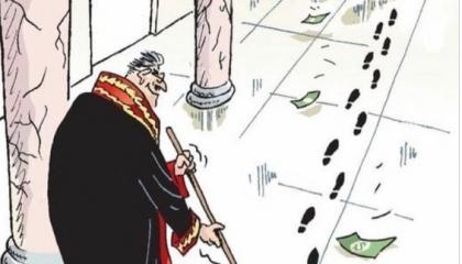 كاريكاتير: قضاة تركيا أداة أردوغان لسرقة الدولة!