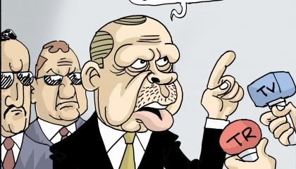 كاريكاتير: أردوغان يأمر الناس بالبر وينسى نفسه!