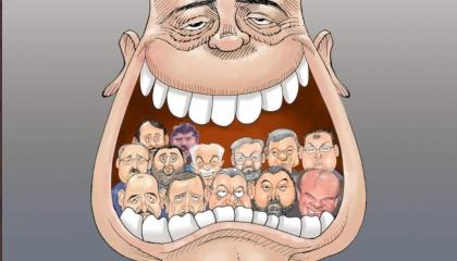 كاريكاتير: فيديوهات زعيم المافيا تبتلع الساسة الأتراك