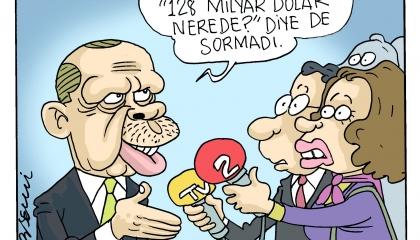 كاريكاتير.. أردوغان: الحمد لله بايدن لم يسأل عن الـ128 مليار دولار