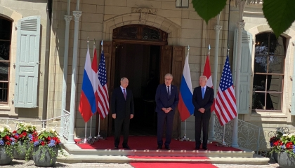 بالصور.. انطلاق فعاليات القمة الأميركية الروسية في جنيف