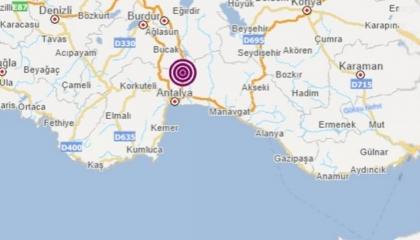 زلزال بقوة 3.5 ريختر يضرب مدينة أنطاليا التركية