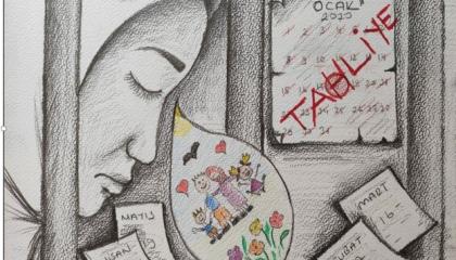 كاريكاتير: نساء تركيا خلف قضبان سجون أردوغان حتى عام 2070!