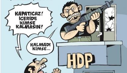 كاريكاتير: الدستورية التركية تتعاون مع الإرهابيين لتصفية الأكراد