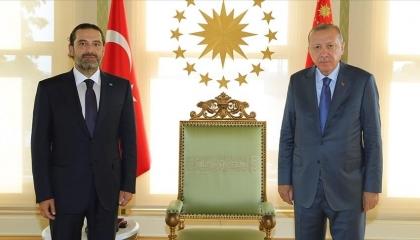 أردوغان يستقبل رئيس الحكومة اللبنانية المكلف في لقاء مغلق بإسطنبول