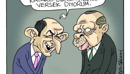كاريكاتير: تركيا بالنكهة القطرية!