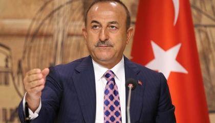 رسالة تعزية من وزير الخارجية التركي في مقتل جنديين أتراك بإدلب