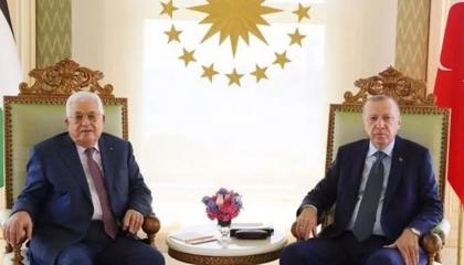 أردوغان خلال لقائه مع أبو مازن: لن نسكت عن الفظائع الإسرائيلية في فلسطين