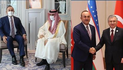 جاويش أوغلو يلتقي نظيره الكويتي ونائب رئيس وزراء أذربيجان في طشقند