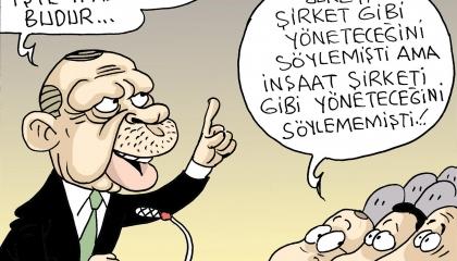 كاريكاتير تركي: أردوغان يتعامل مع شمال قبرص بطريقة «مقاول أنفار»!