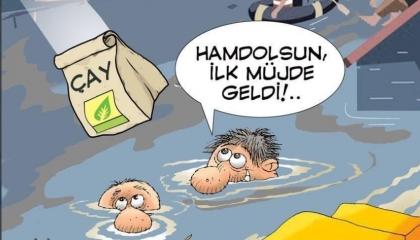 كاريكاتير: أردوغان يمد يد المساعدة «بالشاي» لمنكوبي ريزا