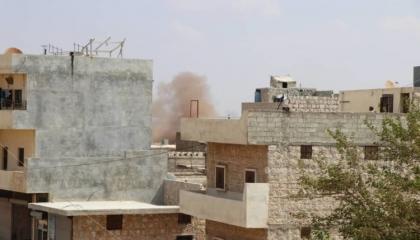 قصف صاروخي على مناطق مدنية في عفرين السورية وأنباء عن سقوط  جرحى