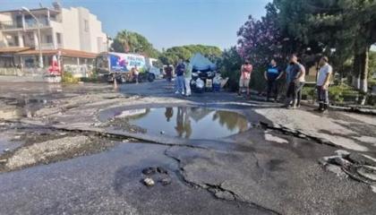 انفجار ضخم يغرق مدينة تركية بالصرف الصحي