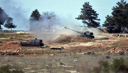 المدفعية التركية تقصفريف حلب الشمالي بالصواريخ