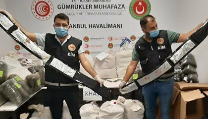 السلطات التركية تضبط 4.3 طن مخدرات في مطار إسطنبول