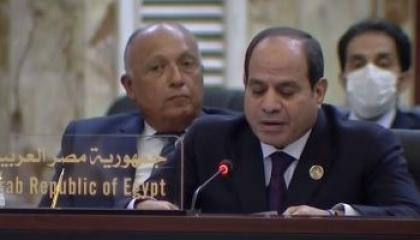 نص كلمة الرئيس السيسي في مؤتمر «بغداد»