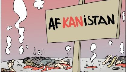 كاريكاتير: أفغانستان بؤرة من الدماء!