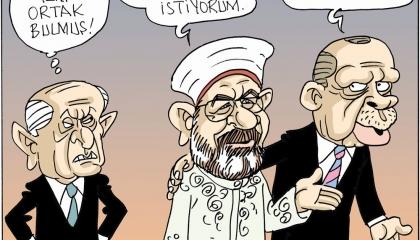 كاريكاتير: الغطاء الديني ثوب أردوغان الجديد للفوز بثقة الأتراك!