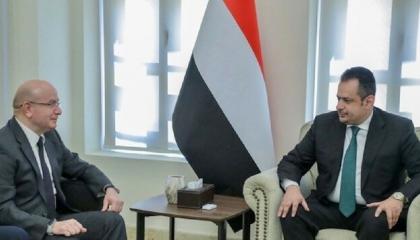 رئيس وزراء اليمن يبحث مع السفير التركي تعزيز العلاقات بين البلدين