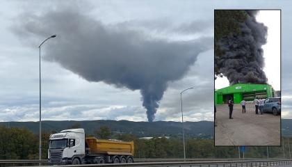 بالفيديو.. حريق يلتهم مصنعًا في إسطنبول