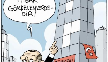 كاريكاتير: الطلاب بلا مأوى وأردوغان فخور بـ«بيت نيويورك»: سمعتنا في السماء!