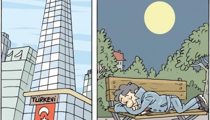 كاريكاتير: الطلاب بلا مأوى.. وأردوغان يهتم بالمظاهر!