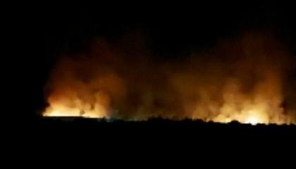 حريق هائل في غابات هاتاي التركية