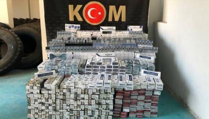 ضبط 11 ألف علبة سجائر مهربة في مدينة سيرت التركية