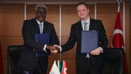 تركيا توقع مذكرة تعاون في مجال التنمية مع مفوضية الاتحاد الإفريقي