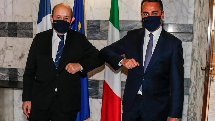 وزير الخارجية الإيطالي ونظيره الفرنسي