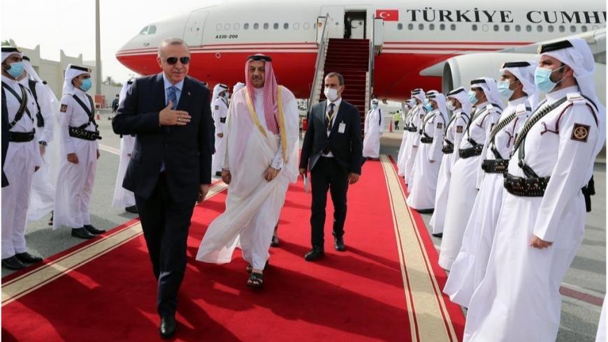 أردوغان أثناء زيارته لقطر