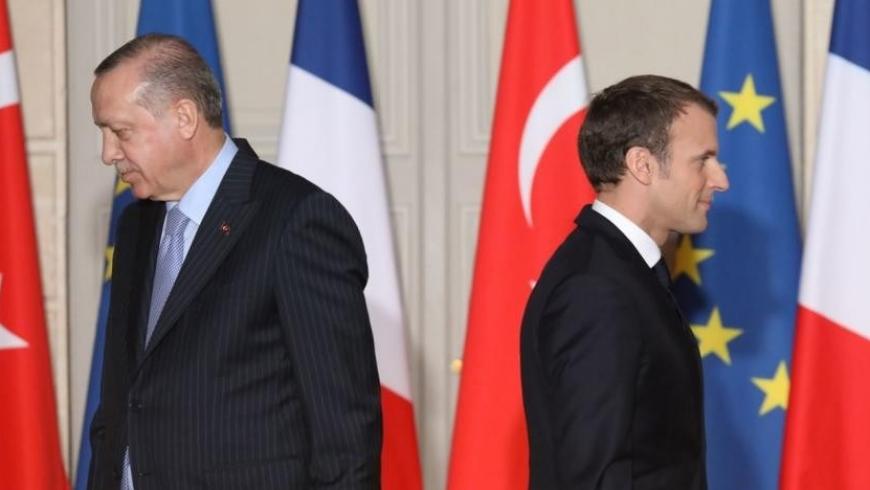 الرئيس الفرنسي إيمانويل ماكرون وأردوغان