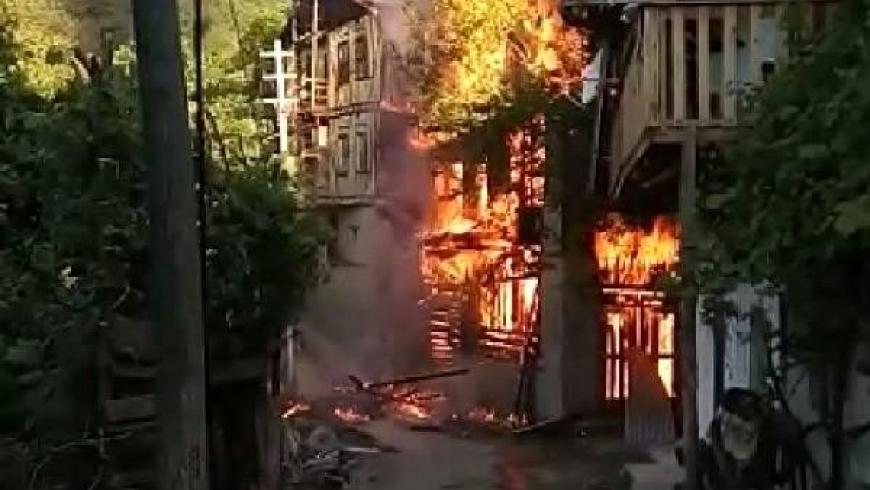 حريق المنزل