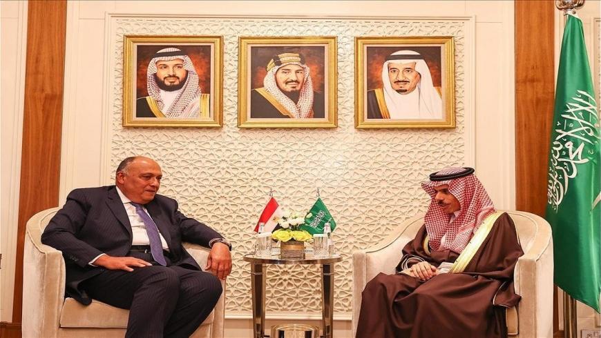 وزيرا الخارجية السعودي والمصري