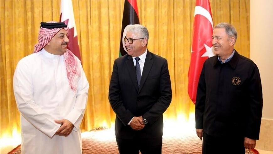 لقاء وزيري الدفاع التركي والقطري بسيالة أمس الاثنين