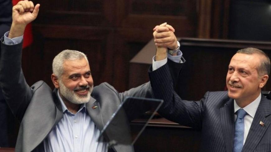 رجب طيب أردوغان ورئيس حركة حماس