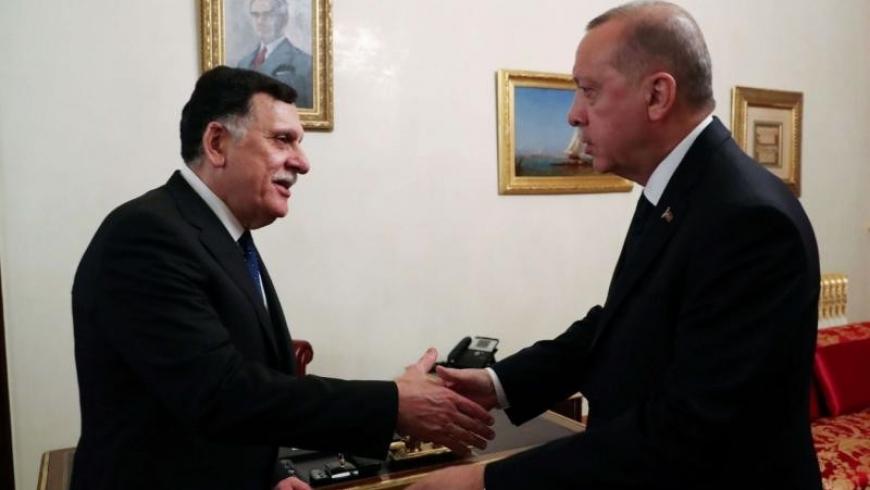 أردوغان و فائز السراج