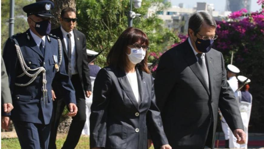 رئيسة اليونان ورئيس قبرص