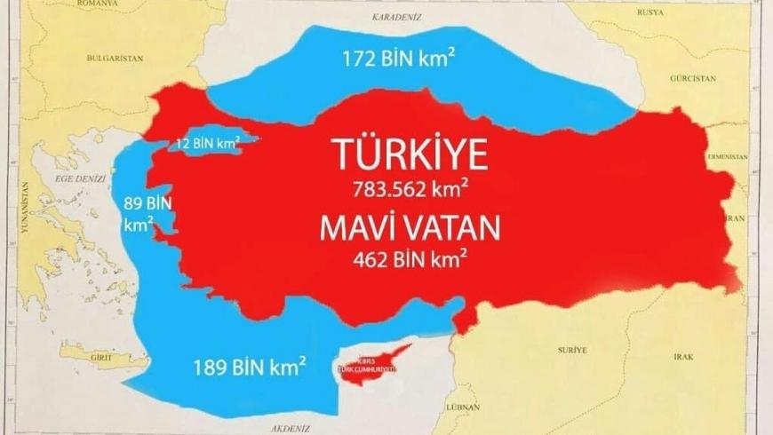 """خريطة """"الوطن الأزرق"""""""