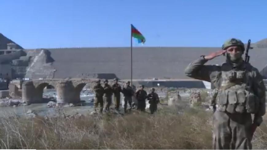 رفع علم أذربيجان في جبرائيل