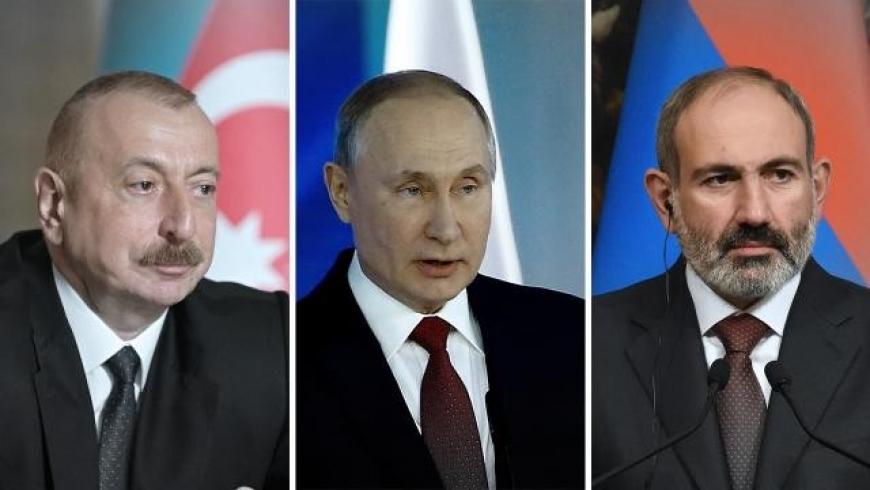 بوتين وباشينيان وعلييف