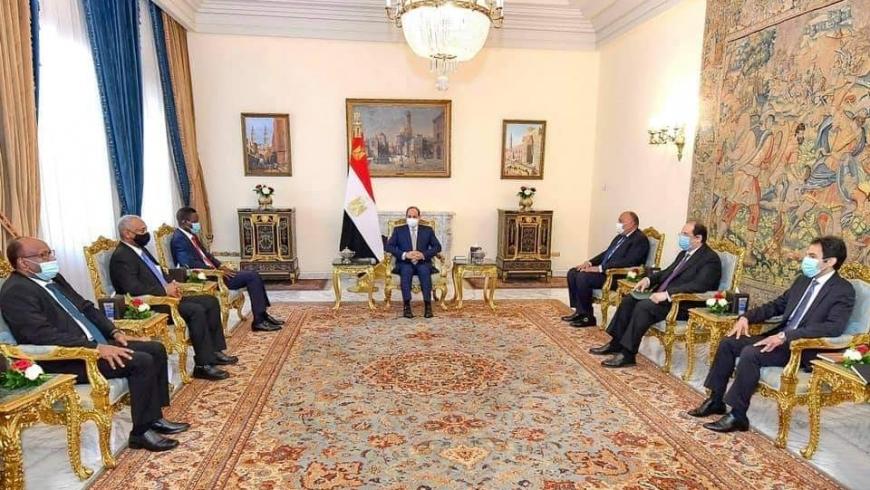 السيسي والوفد السوداني