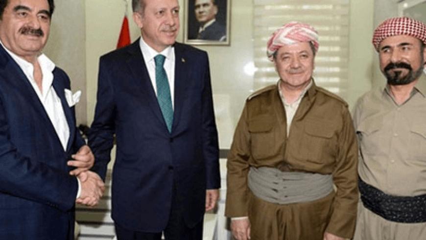 أردوغان وأوجلان وبارزاني