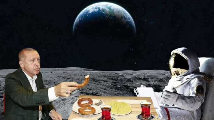 أردوغان والقمر