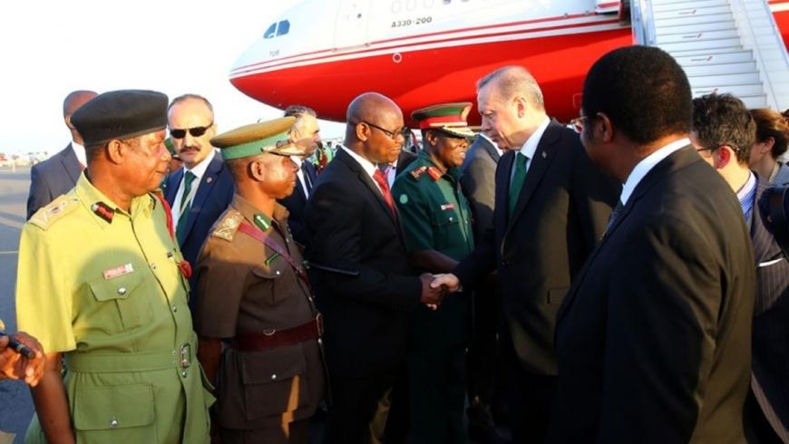 أردوغان في زيارته إلي تنزانيا