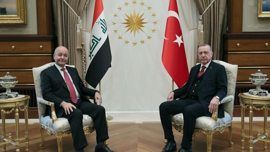 أردوغان وبرهم صالح