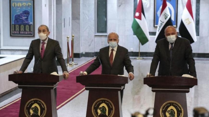 وزراء خارجية مصر والعراق والأردن