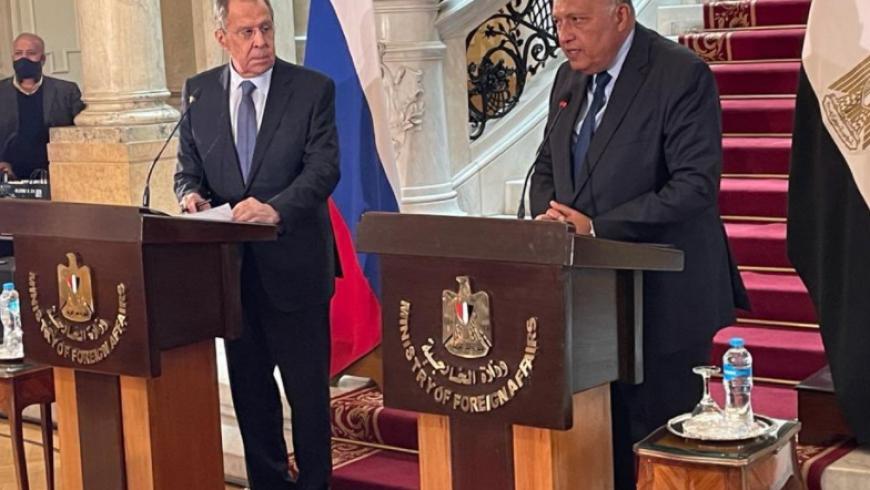 وزيرالخارجية المصري ونظيره الروسي