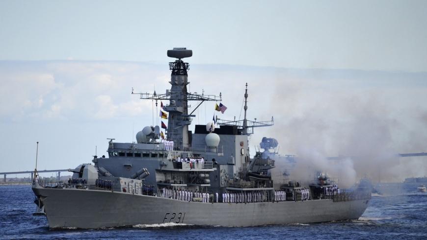 سفينة بريطانية حربية- أرشيفية