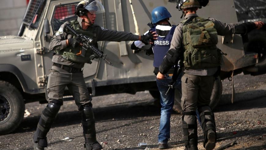الاعتداء على الصحفيين الفلسطينيين- أرشيفية